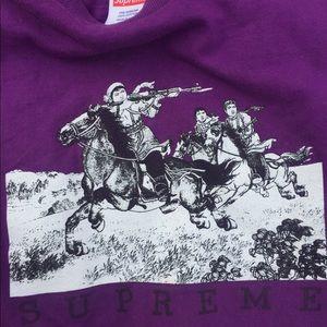 Supreme riders tee purple used